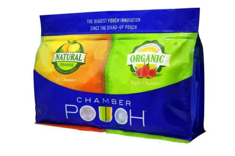 Chamber Pouch easily separates into two, independent, stand-up pouches (Photo: Business Wire)