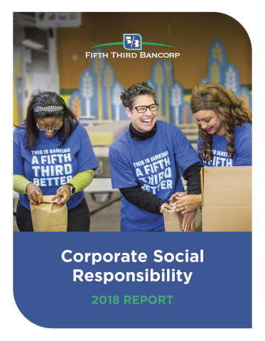The cover of Fifth Third Bancorp's 2018 CSR Report. (Graphic: Business Wire)