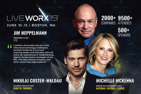 PTC rounds out all-star lineup for LiveWorx with NFL CIO Michelle McKenna and Game of Thrones' Nikolaj Coster-Waldau. (Photo: Business Wire)