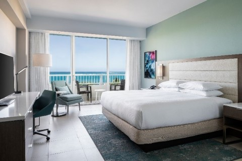 Caribe Hilton - newly renovated guestroom (Photo: Business Wire)