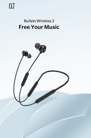 OnePlus Bullets Wireless 2 headphones feature a dynamic speaker for warm, full bass and two balanced ...