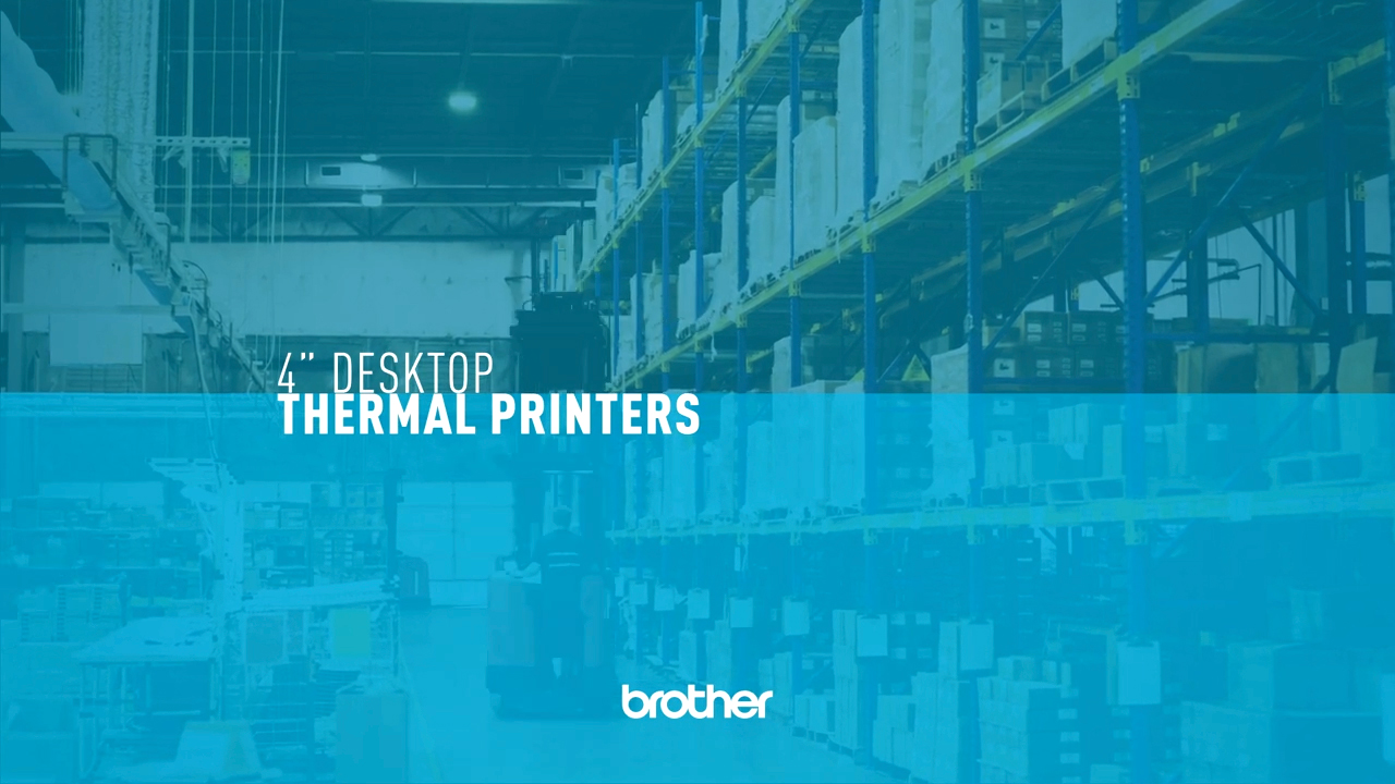 Brother's TD 4 Desktop Thermal Printer Series was engineered to help the small-to-midsize business or warehouse meet new standards of speed and demand for efficiency in shipping and product delivery.
