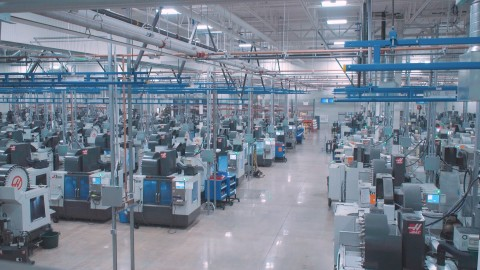 There are nearly 300 mills and lathes at Protolabs' new 215,000 sq. ft. advanced manufacturing facility in Brooklyn Park, Minn. The facility is the company's 12th plant globally. Credit: Protolabs