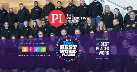 The Predictive Index Named a 2019 Best Place to Work by Inc., Glassdoor, and the Boston Business Journal, Embodying its Mission of 'Better Work, Better World' (Graphic: Business Wire)