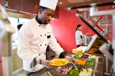 Aramark partners with hundreds of campuses around the country, serving millions of students each day. (Photo: Business Wire)
