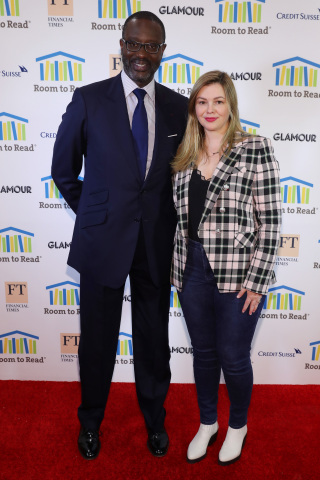 NEW YORK, NEW YORK - MAY 16: Tidjane Thiam and Amber Tamblyn attend the Room To Read 2019 New York Gala on May 16, 2019 in New York City. (Photo by Bennett Raglin/Getty Images for Room to Read)