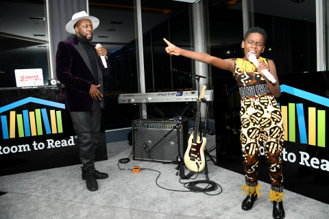 NEW YORK, NEW YORK - MAY 16: Wyclef Jean and DJ Switch Ghana perform onstage during the Room To Read 2019 New York Gala on May 16, 2019 in New York City. (Photo by Mike Coppola/Getty Images for Room to Read)