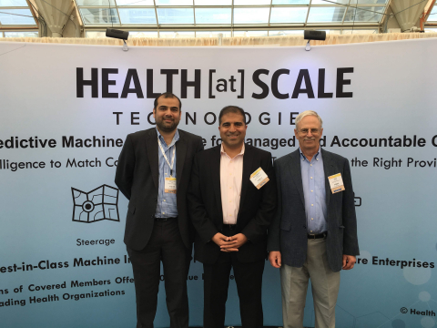 HEALTH[at]SCALE executive leadership team (left to right): CEO Zeeshan Syed, CMO Mohammed Saeed, CTO John Guttag.  (Photo: Business Wire)