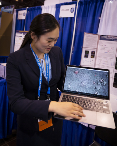 Allison Jia, 17, of San Jose, California, received one of two Intel Foundation Young Scientist Awards of $50,000 on Friday, May 17, 2019, at the 2019 Intel International Science and Engineering Fair, a program of Society for Science & the Public and the world's largest international pre-college science competition. She investigated toxic tau protein aggregates, which spread in neurons in the human brain and are associated with neurodegenerative diseases such as Alzheimer's. (Credit: Intel Corporation)