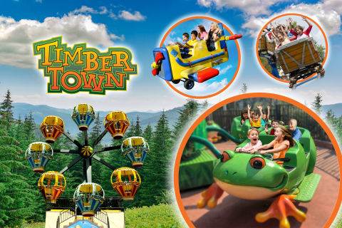 Frontier City celebrates grand opening of Timber Town with four new thrilling attractions! (Photo: B ...