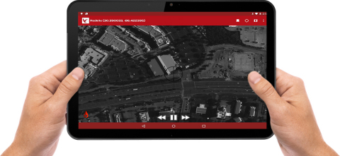 RedKite live and forensic imagery can be streamed to tablets in real-time, from anywhere within its city-sized field of view. (Photo: Business Wire)