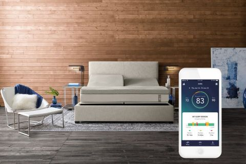 SleepIQ, the 360 smart bed's operating system, detects sleep disturbances, movements, and biometric changes, and then automatically adjusts the bed's firmness throughout the night to deliver proven quality sleep. The new software update provides detailed, individualized insights based on lifestyle, sleep habits, and biometric data to help people better understand the factors that influence their quality sleep. (Photo: Business Wire)