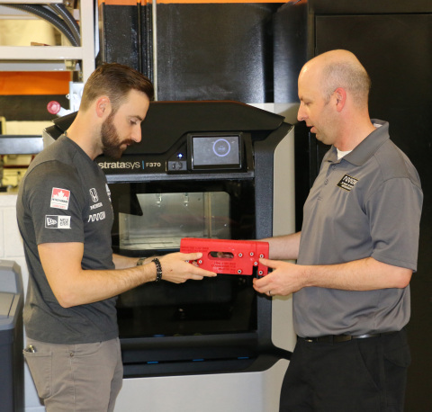 Arrow Schmidt Peterson Motorsports is part of an elite group of professional racing teams empowered by Stratasys 3D printing to raise their level of competition (Photo: Business Wire)
