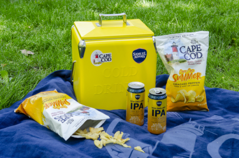 Cape Cod Summer Potato Chips and Samuel Adams New England IPA (Photo: Business Wire)