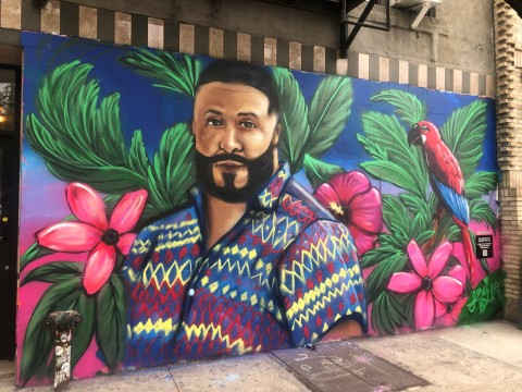 The first out-of-home execution for Pandora debuted on Friday to launch DJ Khaled's new album, and features a mural inspired by the album created by New York City-based street artist Lexi Bella. (Photo: Business Wire)