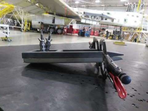 The first carbon fiber part 3D printed for the U.S. Air Force: a first aid kit restraint strap for B-1 aircraft. (Photo: Business Wire)