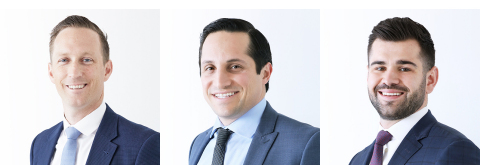 Pictured from left to right: Taylor Boyd, Sina Soltani and Parker Bellinger. (Photo: Business Wire)