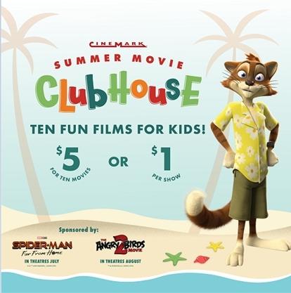 Cinemark Summer Movie Club House (Graphic: Business Wire)