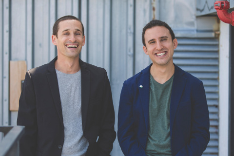 Hunters.AI co-founders (l.) Tomer Kazaz, CTO and (r.) Uri May, CEO (Photo: Business Wire)