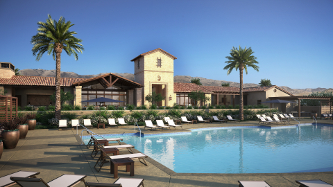 The Canyon Club is Deerlake Ranch's resort-style clubhouse that includes a pool, spa, game room, fire pit, built-in BBQ, pizza oven, cabanas, covered outdoor spaces, and an outdoor fireplace. (Photo: Business Wire)
