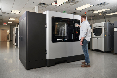 The collaboration between Stratasys and Solvay is designed to expand the range of high-performance polymers available to manufacturers, starting with the Stratasys F900 (Photo: Business Wire)