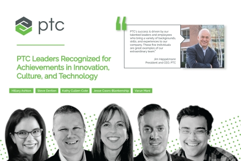 PTC executives receive industry recognition for achievements. (Graphic: Business Wire)