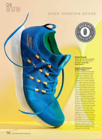"""Skechers GO RUN 7 Hyper™ named """"Gear of the Year"""" by Outside magazine. (Graphic: Business Wire)"""