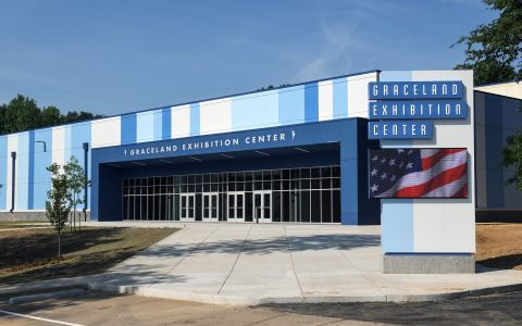 The new Graceland Exhibition Center in Memphis. (Photo: Business Wire)