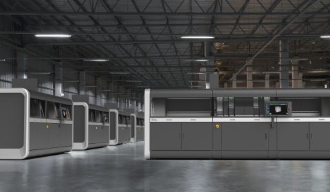 Powered by Single Pass Jetting, the Production System is the world's first and only metal 3D printin ...