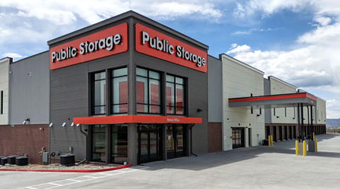 Hundreds of new climate controlled self storage units opened today at Public Storage 3601 Blue Horizon View, Colorado Springs, CO 80908. In total the company opened more than 700 spaces, also including convenient drive-up outdoor units. The new building is visible from the busy Powers Boulevard, aka Highway 21, thoroughfare in a neighborhood where buildings are quickly rising from vacant fields. (Photo: Business Wire)