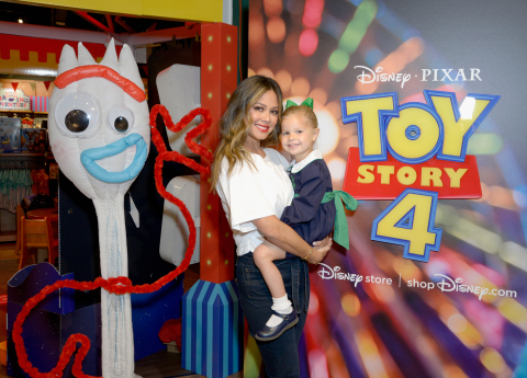 Vanessa Lachey and Brooklyn Lachey attend the Toy Story 4 Takeover at the Disney store on May 23, 20 ...