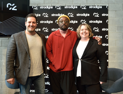 Stradigi AI, a leading Montreal-based AI solutions company, today launched the Kepler AI platform at C2 Montréal with CEO Basil Bouraropoulos, newly appointed AI Advisor, Bias and Ethics will.i.am, and Chief Scientific Officer Carolina Bessega, PhD. The Canadian Press Images PHOTO/Stradigi AI.