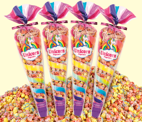 Dubbed the experts in popcorn, Popcornopolis' highly sought-after Unicorn Popcorn® is formulated with premium ingredients that capture sweetness, fantasy and fun in every bite. (Photo: Business Wire)