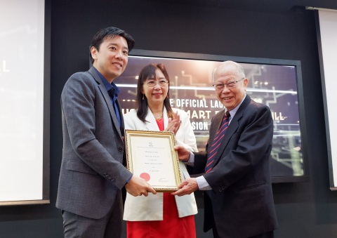 MOSTA President Tan Sri Em. Prof. Datuk Dr. Augustine S.H. Ong (right) presenting a certificate of h ...