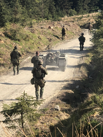 The THeMIS' capabilities were put to the test right after delivery in the tough Scottish landscape during a military exercise. (Photo: Business Wire)