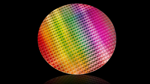 A photo released May 28, 2019, at Computex 2019 shows a 10th Gen Intel Core processor wafer. 10th Gen Intel desktop processors unveiled at Computex enable fast, immersive experiences with up to 4 cores and 8 threads, up to 4.1 GHz max turbo frequency and up to 1.1 GHz graphics frequency. (Source: Intel Corporation)
