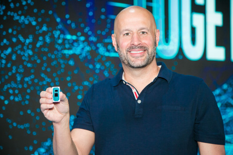 Gregory Bryant, Intel senior vice president and general manager of the Client Computing Group, displays a 10th Gen Intel Core processor on stage during a rehearsal for Intel's keynote at Computex 2019 on Tuesday, May 28, 2019, in Taipei, Taiwan. (Credit: Intel Corporation)
