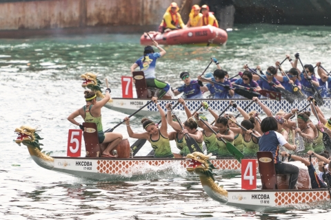 The Hong Kong International Dragon Boat Races, part of the Hong Kong Dragon Boat Carnival, draw dragon boat clubs from around the world. (Photo: Business Wire)