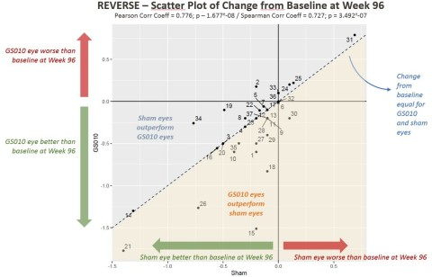 Figure 1. Visual Acuity Change from Baseline in LogMAR among REVERSE Subjects (Photo: Business Wire)