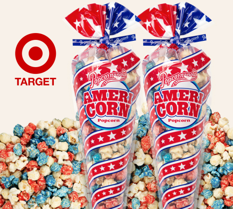 Celebrating the essence of summer, Americorn™ Popcorn is a vanilla flavored caramel corn bursting with bold, patriotic colors creating one very tasty, all-American treat. (Photo: Business Wire)