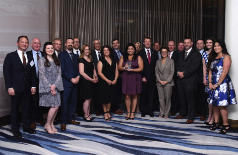 Representatives from Mouser Electronics and Amphenol Corporation gather at the 2019 EDS Leadership S ...