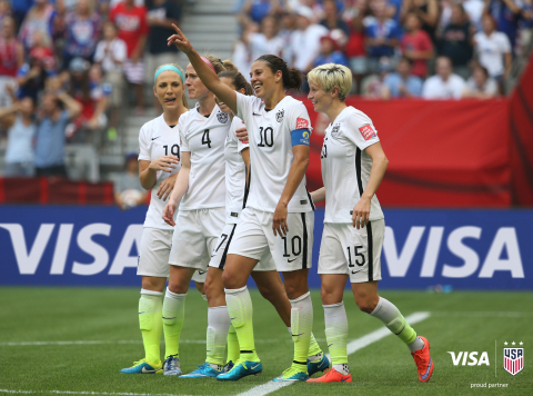 Visa announces Five-Year Partnership with U.S. Soccer Federation in Support of U.S. Women's National Team, Presenting Sponsor of SheBelieves Cup (Photo: Business Wire)