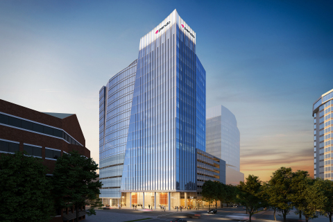 Rendering for The Fallon Company's new commercial tower at 301 Hillsborough Street, a transformative ...