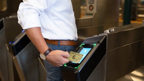 Starting May 31, 2019, American Express® Card Members can use their contactless-enabled Cards or Cards in digital wallets through MTA's new contactless fare system. (Photo: Business Wire)