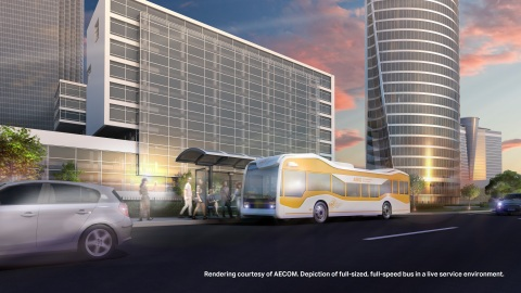 The pilot projects will deploy full-sized, full-speed buses in live service environments. (Photo: Business Wire)