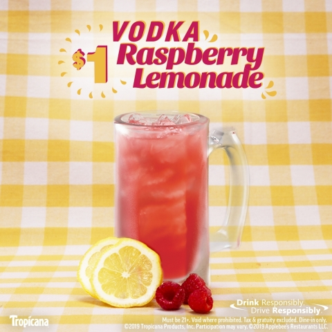 Sip Into Summer With Applebee's $1 Vodka Raspberry Lemonade (Graphic: Business Wire)