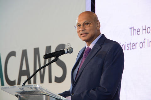 The Honourable Ronald Toppin M.P., Minister of International Business and Industry, Barbados (Photo: ...