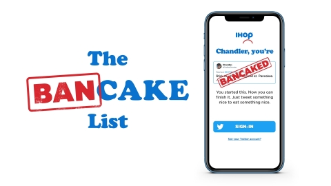 In 2018, there were more than 3.3 million tweets about #IHOb. For the one-year anniversary, IHOP created the Bancake List to turn its social skeptics into Steakburger fans. (Graphic: Business Wire)