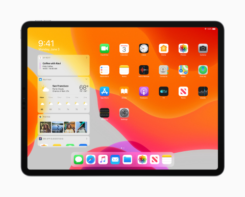 iPadOS features a new Home screen with more apps and a Today View for information at a glance. (Phot ...