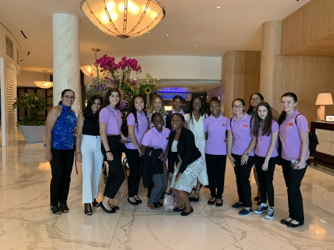 Southern Glazer's sponsors a field trip for Women of Tomorrow students at a Fort Lauderdale luxury hotel as part of a program to educate young women about careers in hospitality. (Photo: Business Wire)